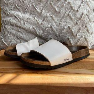 Birkenstock Betula White Slide Sandals